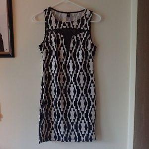 Black & White Printed Windsor Dress
